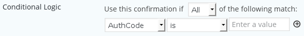 Conditional confirmation on empty AuthCode