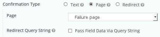 Redirect to a confirmation page